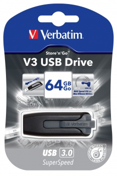 64GB USB Flash 3.0 V3 Store\'n\'Go černý Verbatim P-blist
