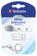 16GB USB Flash 2.0 METAL EXECUTIVE stříbrný Verbatim P-blist