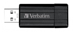 8GB USB Flash 2.0 PIN STRIPE Store\'n\'Go černý Verbatim P-blist